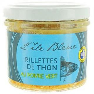 Rillettes de thon au poivre vert MSC - l'Ile Bleue - pot 100g