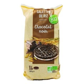 Galettes de riz chocolat noir BIO - paquet 100g