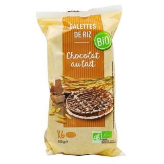 Galettes de riz chocolat au lait BIO - paquet 100g