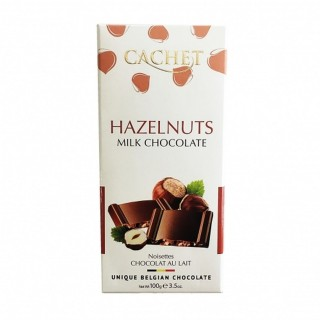 Chocolat lait noisettes - Cachet - tablette 100g