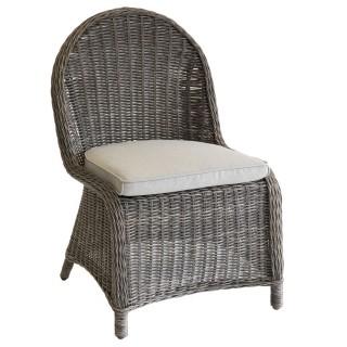 Chaise de jardin en résine tressée Bétong - Marron noisette