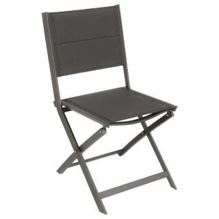 Chaise de jardin pliable Allure - Marron foncé