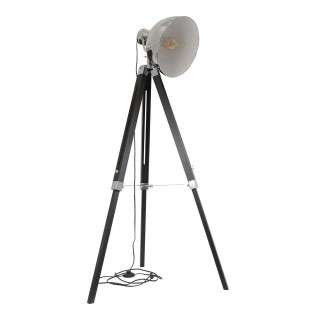 Lampadaire trepied design industriel Ino - H. 150 cm - Noir