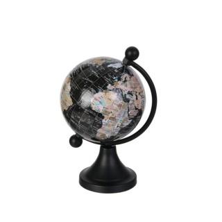 Globe terrestre design métal Globo - Noir