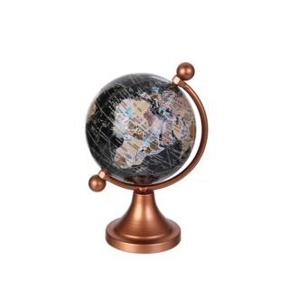 Globe terrestre design métal Globo - Couleur cuivré