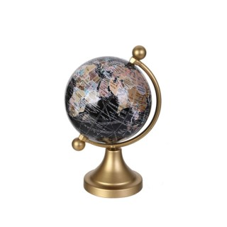Globe terrestre design métal Globo - Doré