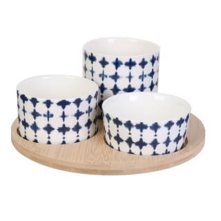 Set apéritif design bord de mer Azur - Bleu Foncé