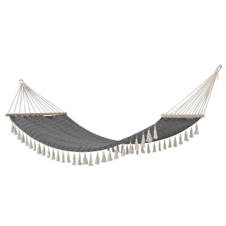 Hamac design ethnique Syssia - L. 200 x l. 100 cm - Noir