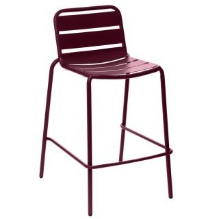 Chaise haute de jardin empilable design Phuket - Bordeaux