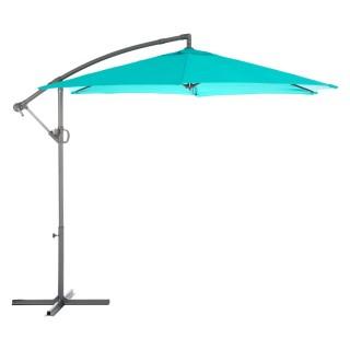Parasol déporté carré Janeiro - L. 250 x l. 250 cm - Bleu émeraude