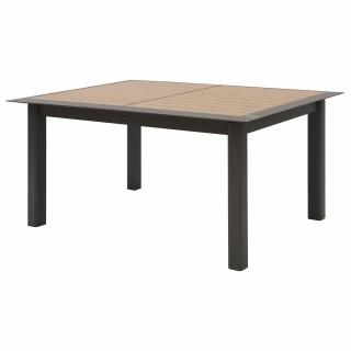 Table de jardin extensible 10 Personnes à lattes Allure - L. 160/254 cm - Gris et marron