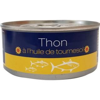 Thon entier à l'huile de tournesol - boîte 160g