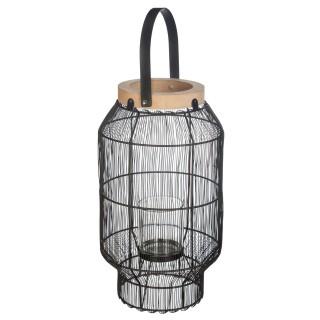 Lanterne en métal ethnique Allure Ethnique - H. 31 cm - Noir