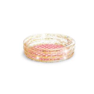 Piscinette pataugeoire gonflable Glitter - Diam. 86 x H. 25 cm - Transparent