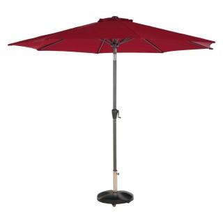 Parasol droit inclinable rond Fidji - Diam. 300 cm - Bordeaux