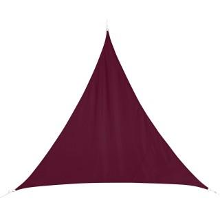 Voile d'ombrage triangulaire Curacao - 5 x 5 x 5 m - Bordeaux