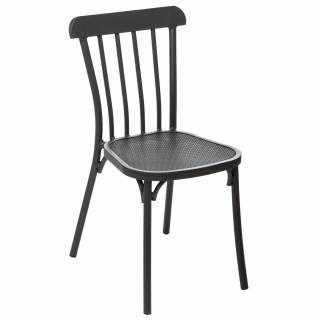 Chaise de jardin empilable Ellipsa - Gris graphite