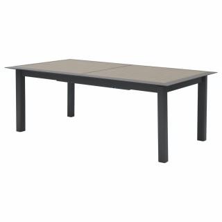 Table de jardin extensible 12 Personnes effet bois Allure - L. 216/316 cm - Gris