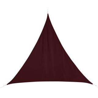 Voile d'ombrage triangulaire Curacao - 3 x 3 x 3 m - Bordeaux