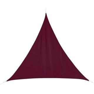 Voile d'ombrage triangulaire Curacao - 4 x 4 x 4 m - Bordeaux