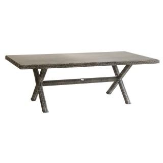 Table de jardin en résine tressée Bétong - 8 Personnes - Marron