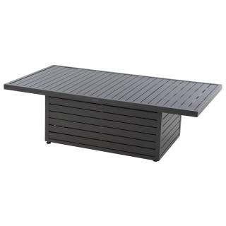 Table relevable de jardin design Alteza - L. 147 x H. 45 cm - Gris graphique
