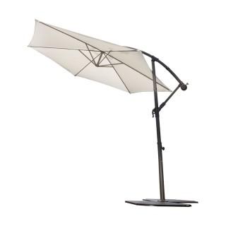 Parasol déporté inclinable rond Almeria - Diam. 300 cm - Blanc écru