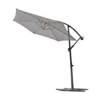 Parasol déporté inclinable rond Almeria - Diam. 300 cm - Gris perle