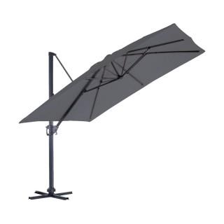 Parasol déporté inclinable carré Almeria - L. 300 x l. 300 cm - Gris anthracite