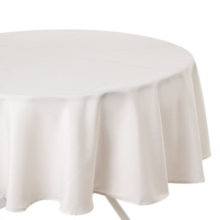 Nappe anti-taches ronde Ophy - Diam 180 cm - Ivoire