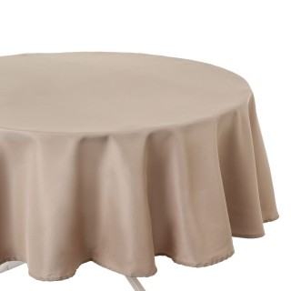 Nappe anti-taches ronde Ophy - Diam 180 cm - Couleur lin