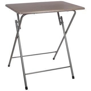 Table d'appoint pliante Grey - L. 66 x H. 70 cm - Marron