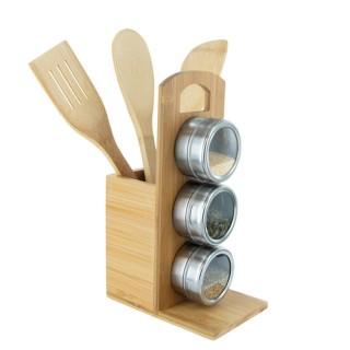 Porte ustensiles et épices en bambou Cook