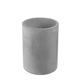 Bougie LED ronde design ciment Factory GM - Gris