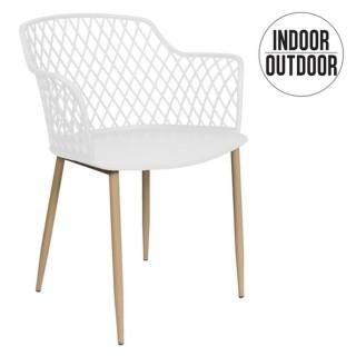 Fauteuil pour table de jardin design Malaga - Blanc
