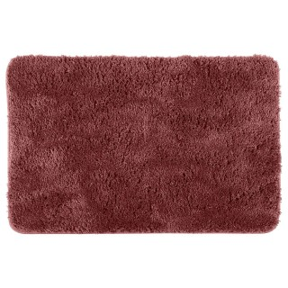 Tapis de salle de bain microfibre Colorama - L. 60 x l. 90 cm - Marron terracotta