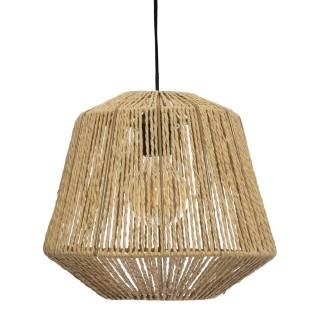Suspension luminaire effet corde Ethnik - H. 90 cm - Beige