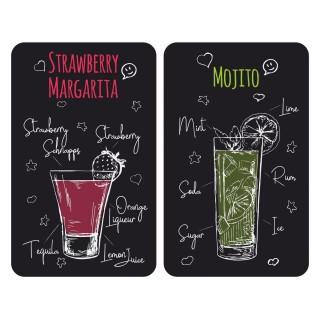 2 Couvre-plaques universel Margarita - 30 x 52 cm - Noir