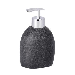 Distributeur de savon design nature Puro - Gris anthracite