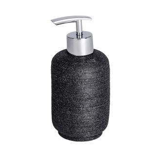 Distributeur de savon design naturel en relief Goa - Gris anthracite