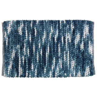 Tapis de bain design Urdu - L. 60 x l. 90 cm - Bleu
