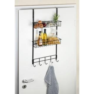 Etagère de cuisine de porte Gala - L. 39 x H. 75 cm - Noir