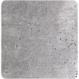 Tapis de douche antidérapant design ciment Concrete - L. 54 x l. 54 cm - Gris
