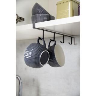 Rangement de placard cuisine - Porte 4 Tasses - Noir