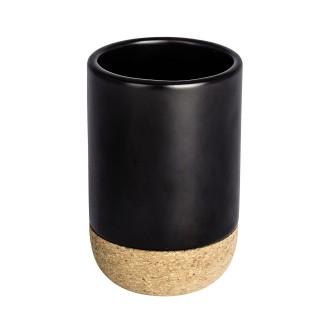 Gobelet de salle de bain design liège Corc - Noir