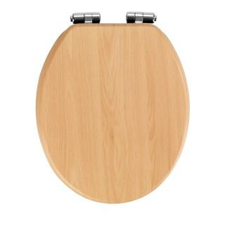 Abattant WC en MDF design bois d'hêtre - Marron