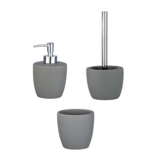 Set accessoires de salle de bain Punto - Gris