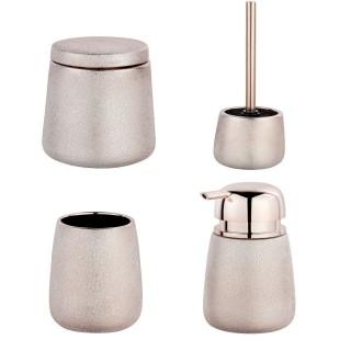 Set accessoires de salle de bain design Glimma - Rose
