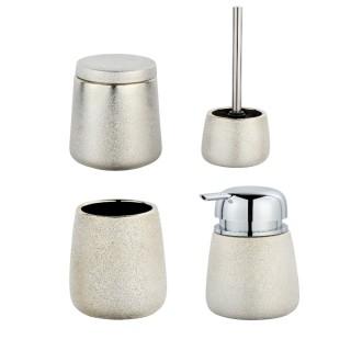 Set accessoires de salle de bain design Glimma - Doré champagne