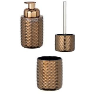 Set d'accessoires de salle de bain design cuivre Keo - Marron